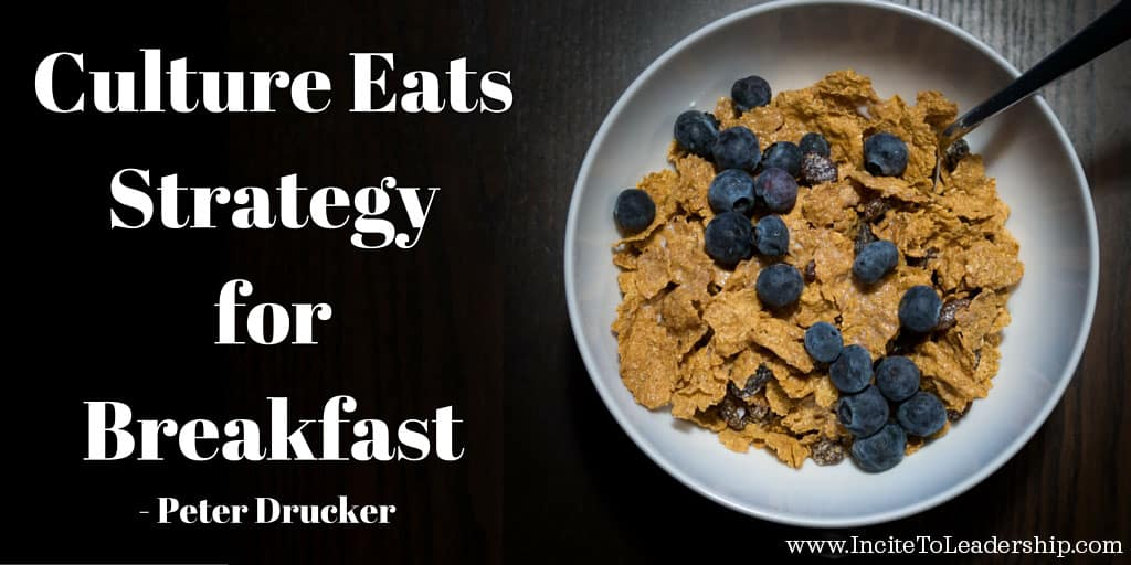 """""""culture eats strategy for breakfast peter Culture eats strategy for breakfast peter drucker whether it's a team or a company, many people think of culture as """"how we do things around here."""