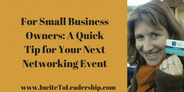 for small business owners - networking tips